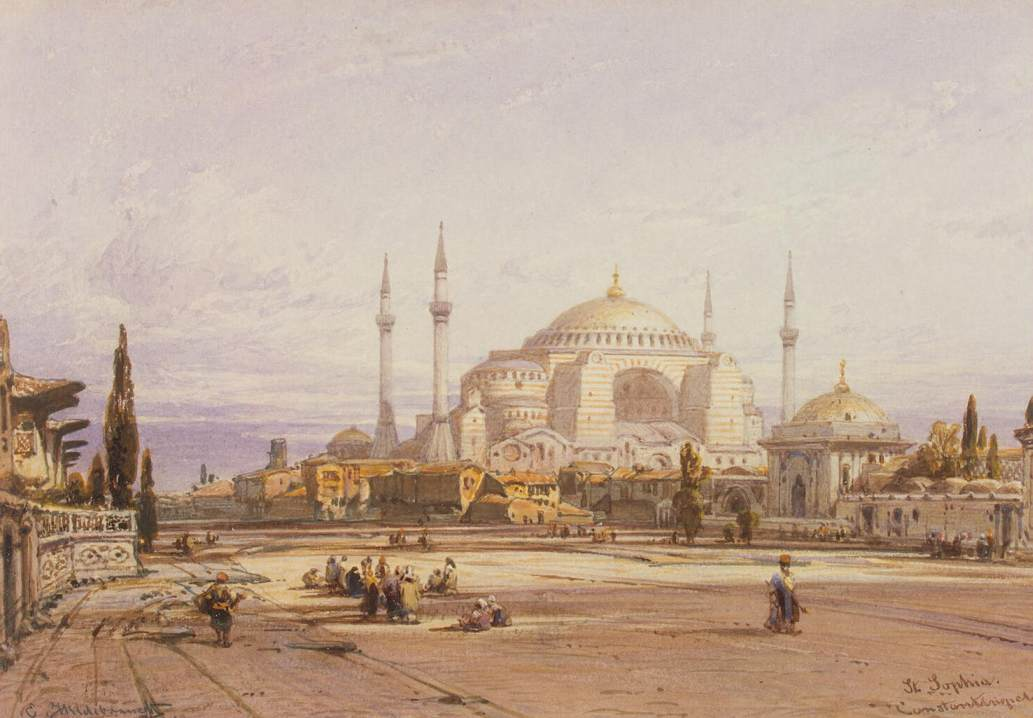 Eduard_Hildebrandt_-_View_of_the_Hagia_Sophia_in_Constantinople_-_WGA11418