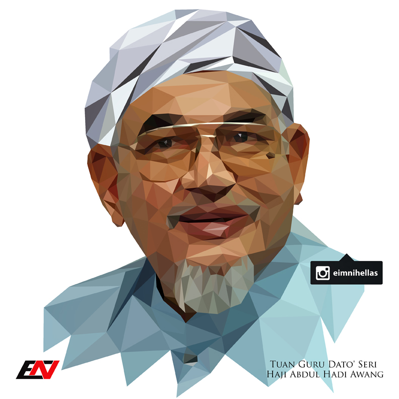low_polygon_portrait___tg_ds_haji_abdul_hadi_awang_by_mietony-d956rd8